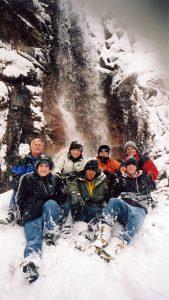 passage-group-at-waterfall